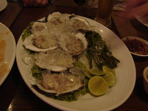 タイの生牡蠣